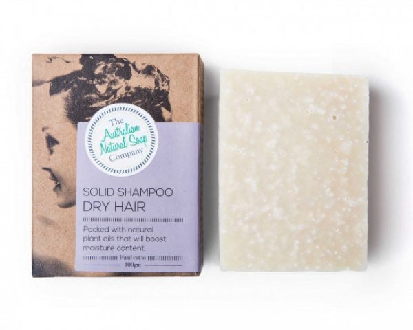 Solid Shampoo Bar - DRY HAIR - by The Aust Natural Soap Co