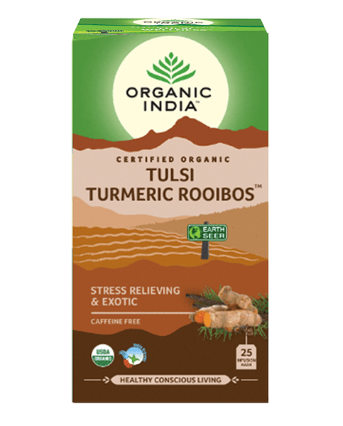 Organic India - Tea Bags 25 - Tumeric Rooibos Tulsi Tea