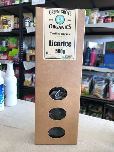 Licorice 500g box by Green Grove Organics