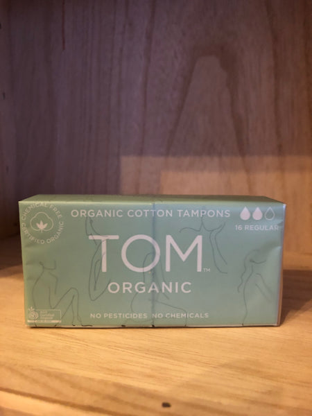 Tom Tampons Regular 8pk x 2 (organic)