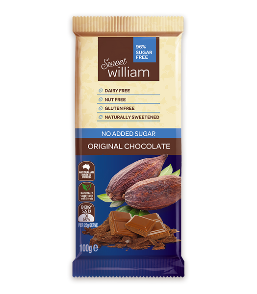 Sweet William NAS Choc Bar Original 100g