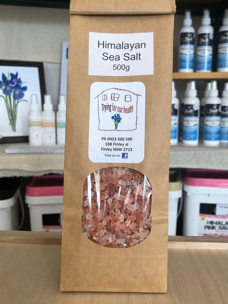 Himalayan Sea Salt - 500g packed in an Earth Bag
