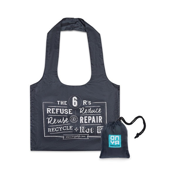 Onya Reusable shopping tote - charcoal