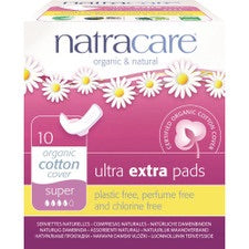 Natracare Ultra Extra Pads Super w Org Cotton Cover x 10Pk