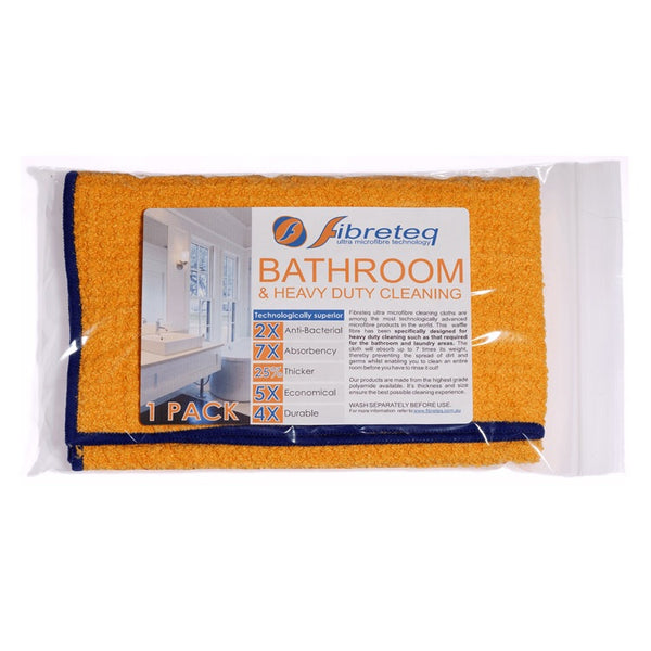 Fibreteq Microfibre Cloth - Bathroom / Heavy Duty