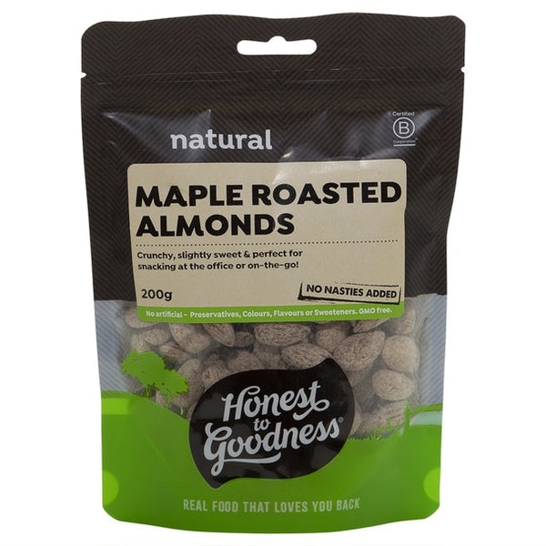 Maple Roasted Almonds 200g by Honest to Goodness