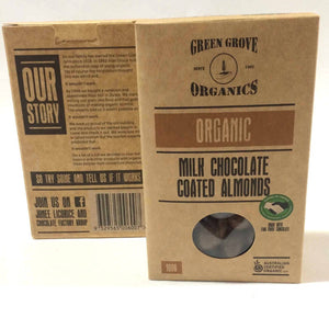Green Grove Organics Milk Choc Almonds 180g
