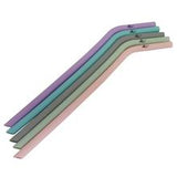 Activated Eco Silicone Straws - Pastel pack of 5 w/cleaning brush (includes carry pouch)