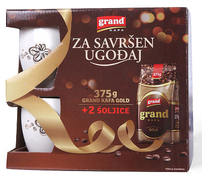 Grand Coffee with coffee cup gift