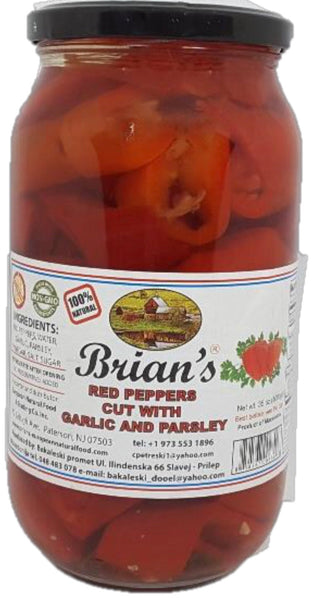 Brian's Red Long Pepper with Garlic 1kg