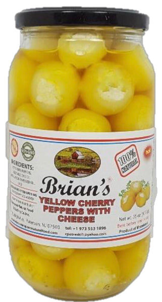 Brian's Yellow Cherry Pepper with Cheese 1kg