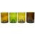 12oz Set of 4 Mixed Color Glasses