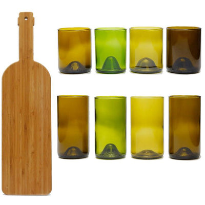 12oz & 16oz 4 packs of Glasses, and a bamboo board-Refresh Glass