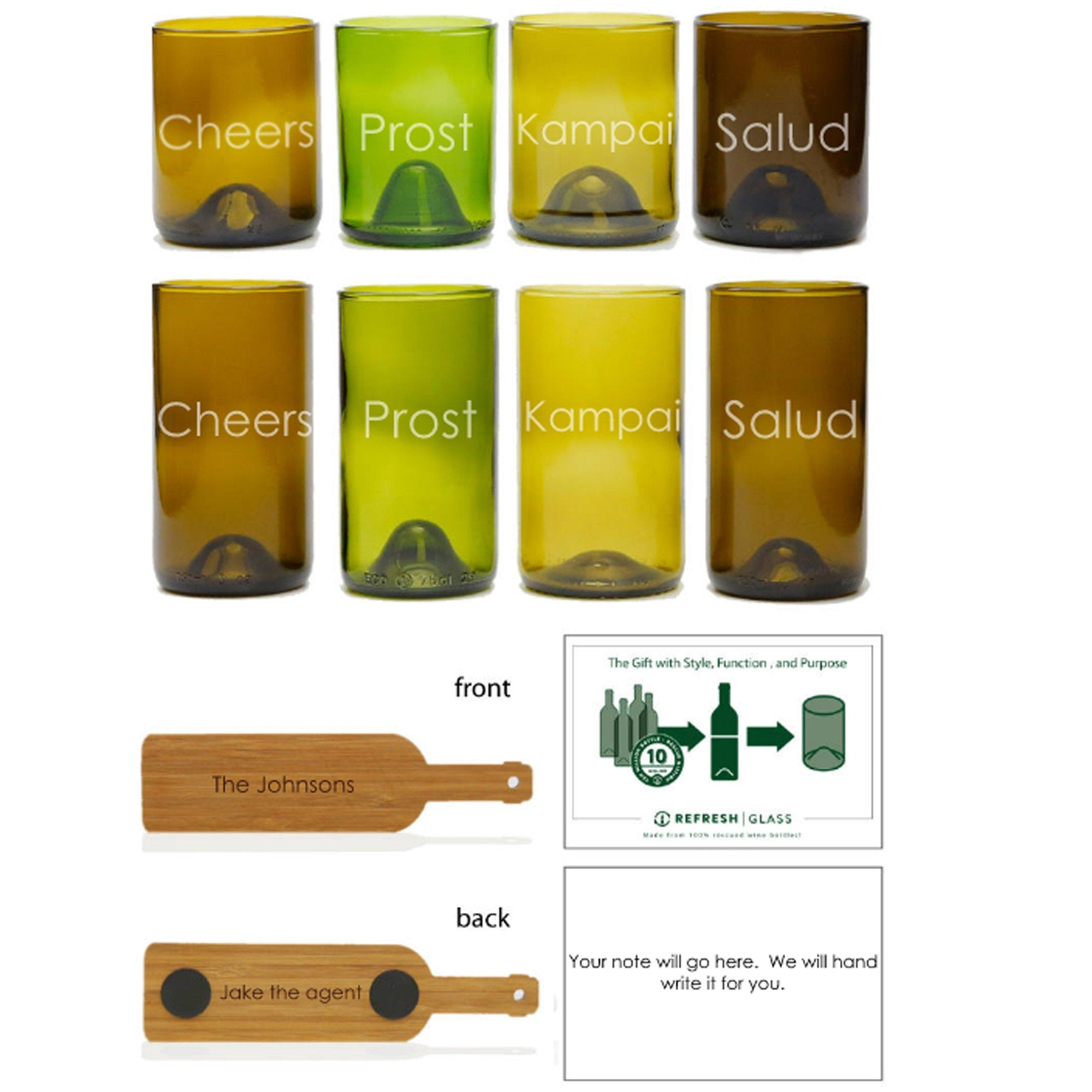 8-Glass Gift Set - Cheers-Refresh Glass
