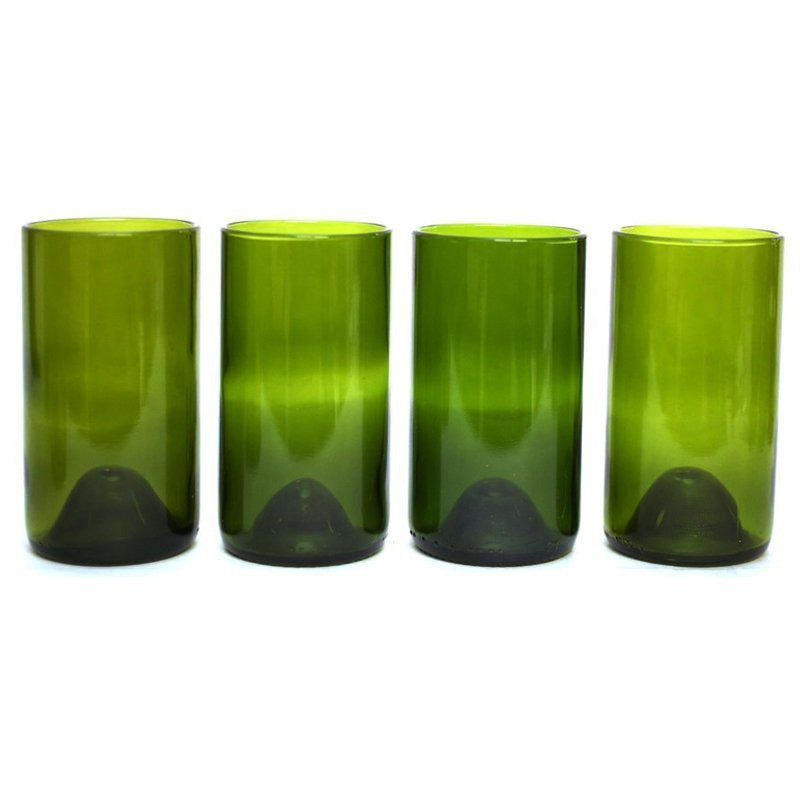 Green 16oz 4 pack Glasses-Refresh Glass