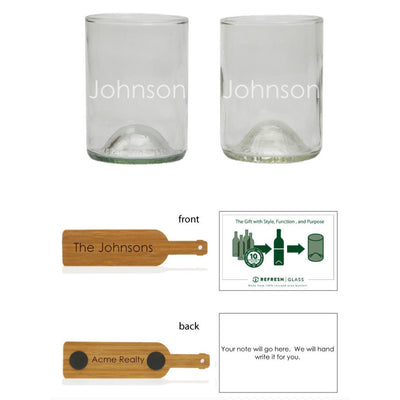 2-Glass Gift Set - Bourbon - Name-Refresh Glass