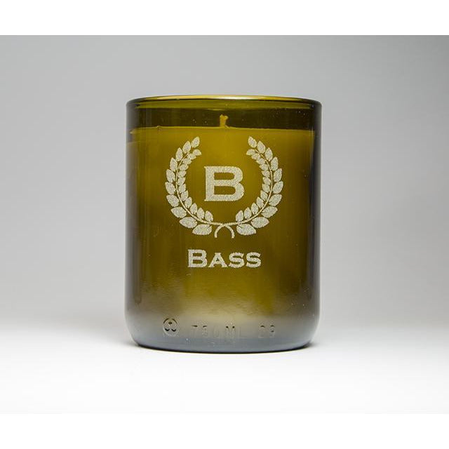 Single Candle - Monogram & Crest-Refresh Glass
