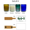 4-Pack Candle Set - Cheers-Refresh Glass