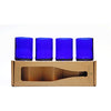 4-Glass Gift Set - Cobalt - Monogram & Crest-Refresh Glass