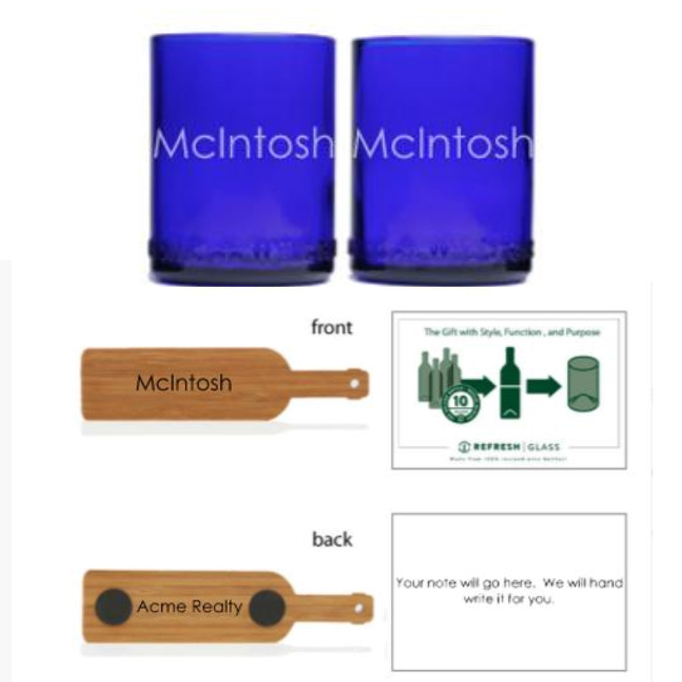 2-Glass Gift Set - Cobalt-Refresh Glass