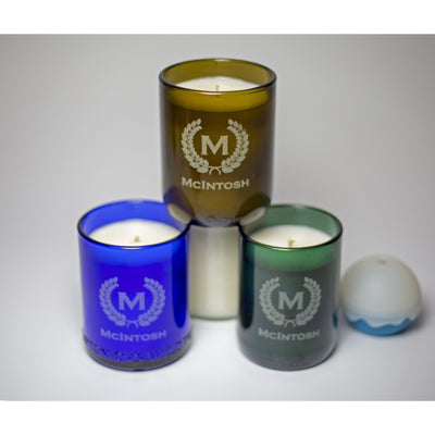 4-Pack Candles - Monogram & Crest-Refresh Glass