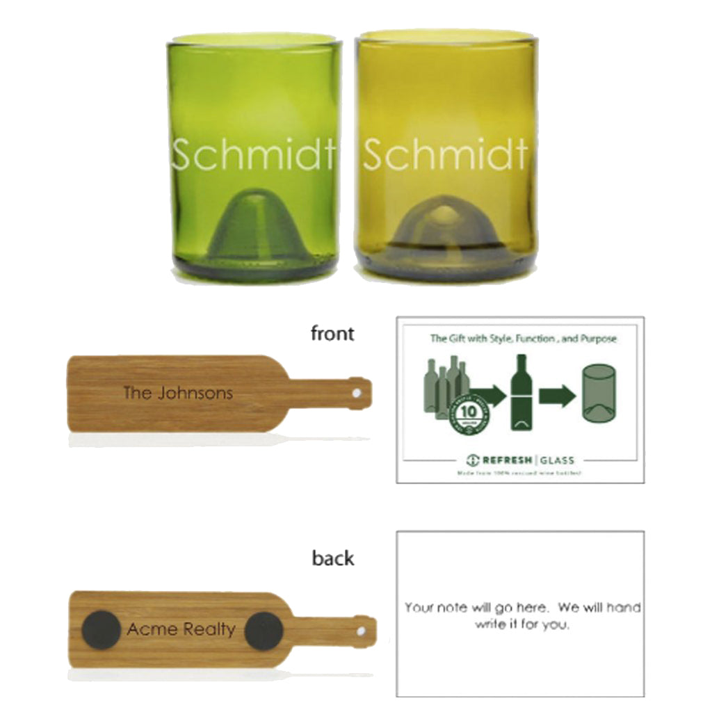 2-Glass Gift Set - Name-Refresh Glass