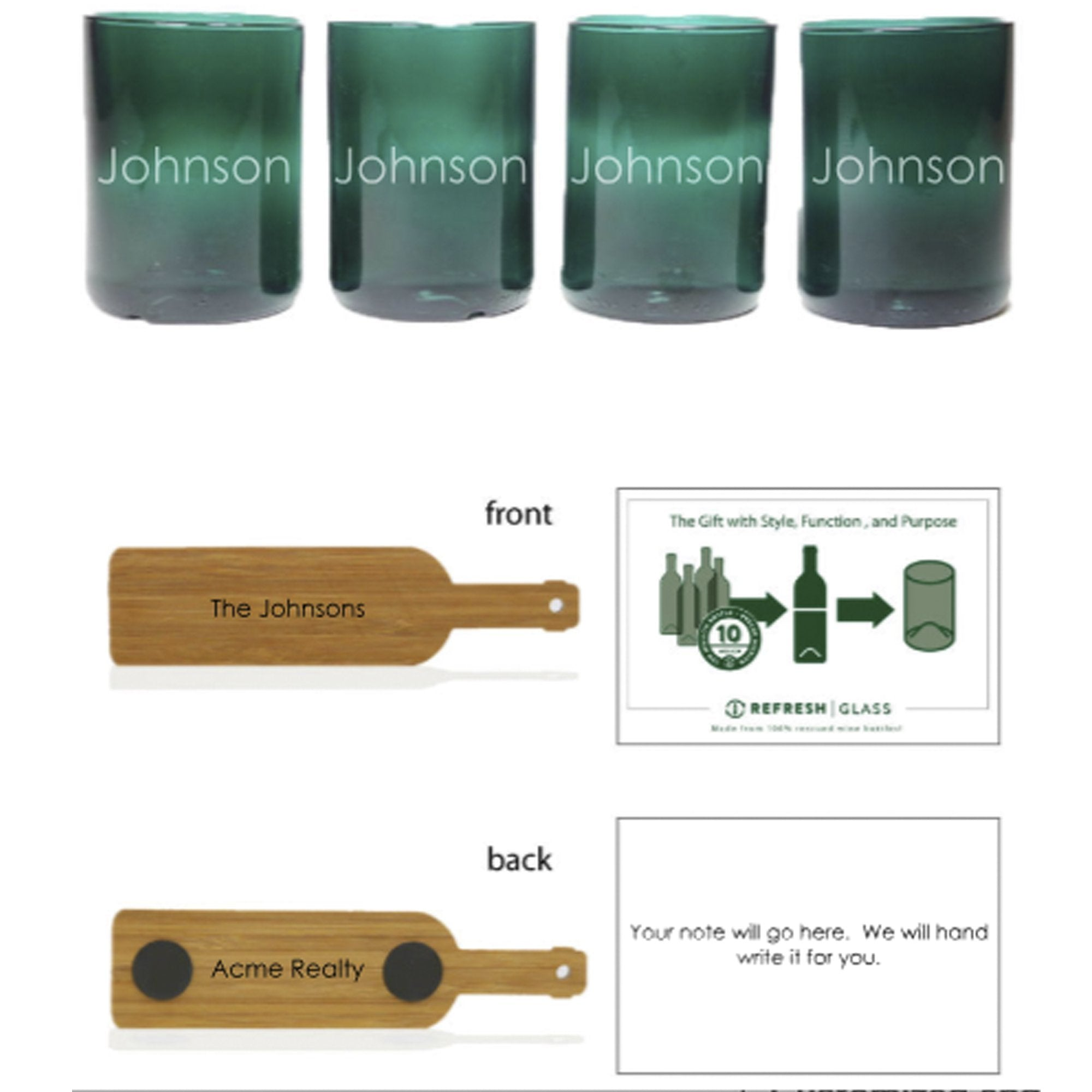 4-Glass Gift Set - Teal-Refresh Glass