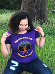 Dipped in Melanin Gold Woman's T-Shirt - Purple