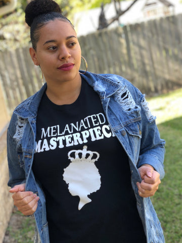 Melanin Masterpiece- Woman's T-Shirt