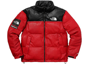 75bc21a990 Supreme x North Face Leather Down Jacket