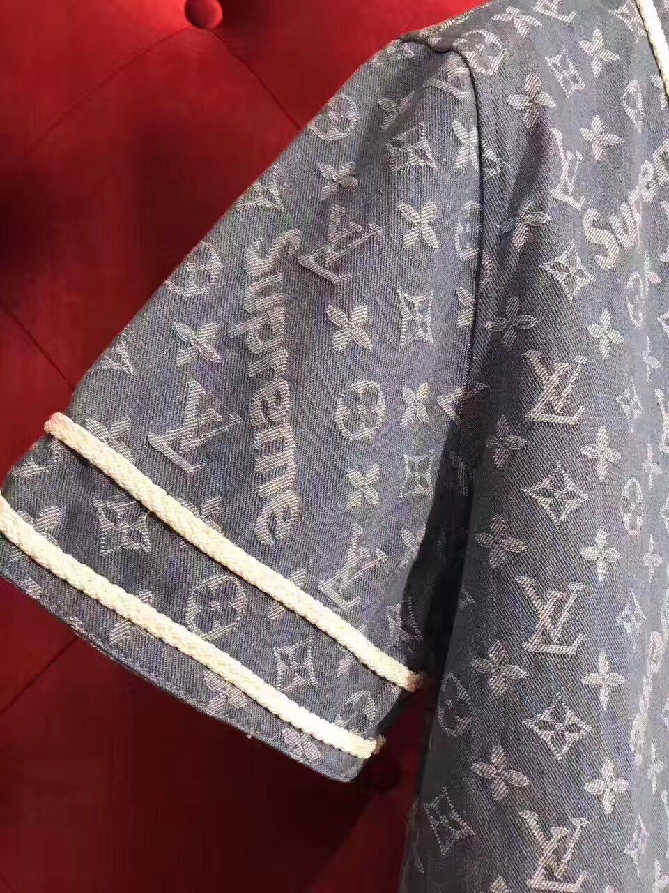 e4de13df2f Supreme x LV All Over Monogram Denim Baseball Jersey – SUPBOXLAB