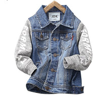 Children's Denim Jackets New Fashion Hooded Style Cotton Kids boy's denim Coats