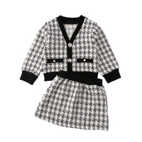 Spring Autumn Clothing Toddler Baby Girls Winter Clothes Plaid Coat Tops+Tutu