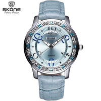2020  Listing Fashion Luxury Crystal Rhinestone Women Watch Leather