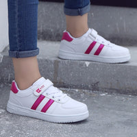 s new boys girls sport shoes casual white shoes for kids Spring/Autumn Rubber Unisex