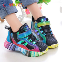 2020 Children's sport shoes for girls sneakers kids boys warm plush Velvet Autumn