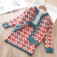 r Shirt And Skirt Retro Diamond Plaid Clothing Spring Outfits For Kids Girls Clothes