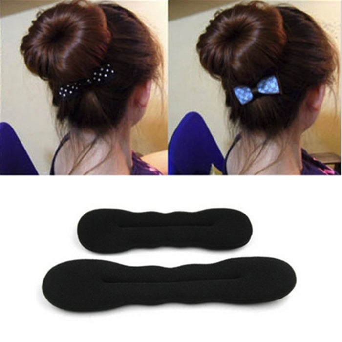 1 PC Fashion Hair Fast Bun Magic Foam Sponge Hair Tools Plate Donut Bun Maker Former Twist Tool Styling Ring Shaper Foam Braider