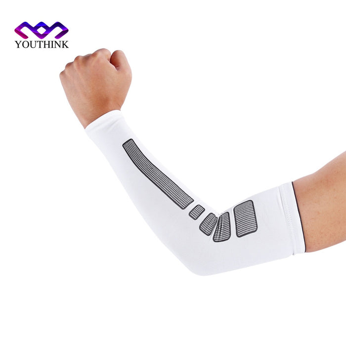 1 Pc Sports Volleyball Arm Sleeve Cycling Compression UV Arm Warmers Elbow Protector