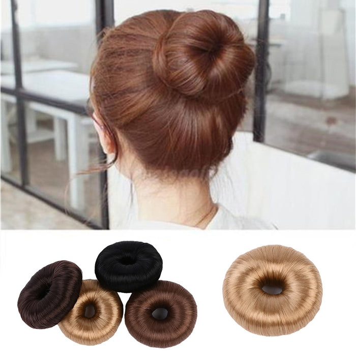 1 Pcs Fashion Ponytail Donut Hair Bun Ring Hair Styler Elastic Wrap Holder Magic Tool Hair Styling