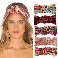 1 pc New Fashion Women Girls Boho Style Cotton Headband Female Bohemian
