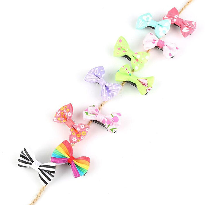 Hairpins For Girls Baby Kids Lovely Sweet Dots/Striped/Floral Hair Side Clips