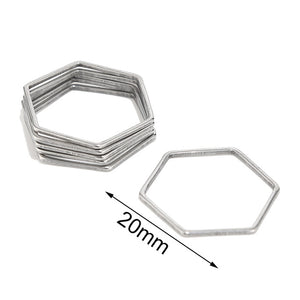 10Pcs/lot Stainless Steel Earring Findings Components Heart Charms Connectors For Bracelet Necklace