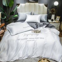 New solid  Color silk bedding set comfortable  king-size cover  set 4 pieces 2020