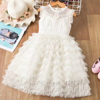 Girls Dress Wedding Party Princess Dress Casual Kids Long Sleeves Dress Children's