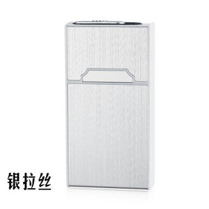 115mm*60mm*21mm 20 thin cigarette women aluminum alloy automatic slim cigarette case box  USB charging lighter