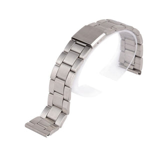 12 14 16 18 20 22 24mm Replacement Band Strap Silver Stainless Steel