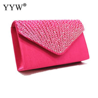 14 Color Women Wedding Clutch Luxury Handbag Women Bags Designer Envelope Clutch Purse Female Yellow Bag