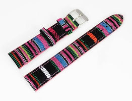 18 mm Length 7 Kinds Color Denim Fabric Canvas Cloth Men Women Wrist Watch Band Watches Strap