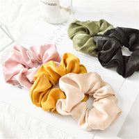 1PC Fashion Solid Color Satin Hair Rope Ties For Girls Women Elastic
